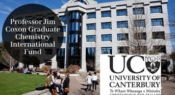 UC Professor Jim Coxon Graduate Chemistry International Fund in New Zealand, 2020