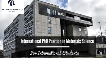 AU International PhD Position in Materials Science, Denmark