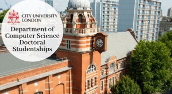 Department of Computer Science Doctoral Studentships at City University of London, 2020