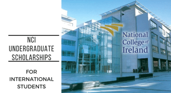 National College of Ireland International Undergraduate Scholarship, 2020