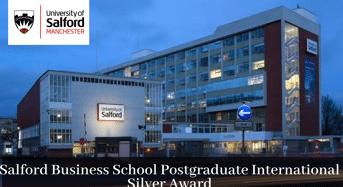 Salford Business School Postgraduate International Silver Award in UK, 2020