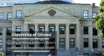 University of Ottawa Faculty of Social Sciences Dean's Excellence International Award in Canada