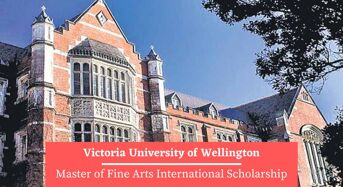 Victoria University of Wellington Master of Fine Arts International Scholarship in New Zealand