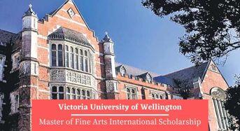 Victoria University of Wellington Master of Fine Arts International Scholarship in New Zealand