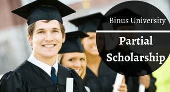 partial award at Binus University, Indonesia