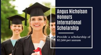 ANU Angus Nicholson Honours International Scholarship in Science, Australia