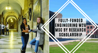 Fully-FundedEngineering M2A MSc by Research Scholarship at Swansea University in UK, 2020
