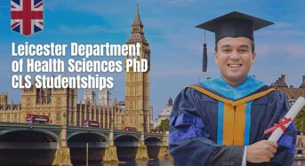 Leicester Department of Health Sciences PhD CLS Studentships for UK/EU Students, 2020