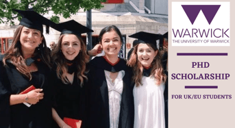 University of Warwick PhD Positionsin UK, 2020