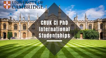 CRUK CI University of Cambridge PhD International Studentships in UK, 2020