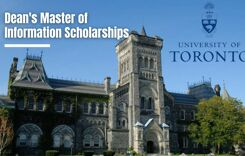 Dean's Master of Information Scholarships at the Universityof Toronto in Canada, 2021