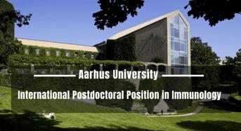 International Postdoctoral Position in Immunology at Aarhus University, Denmark
