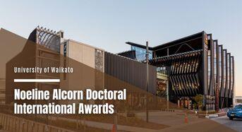 Noeline Alcorn Doctoral International Awards at University of Waikato in New Zealand, 2020