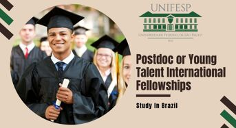Postdoc or Young Talent International Fellowships at Federal University of São Paulo in Brazil, 2020