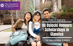 UQ Osiecki Honours Scholarships in Classics for International Students, Australia