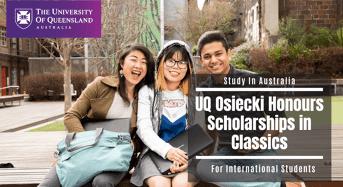 UQ Osiecki Honours Scholarships in Classics for International Students, Australia