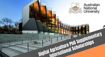 ANU Digital Agriculture PhD Supplementary international awards in Australia, 2020
