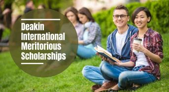 Deakin International Meritorious Scholarships in Australia, 2021