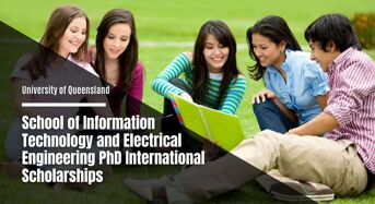 UQ School of Information Technology and Electrical Engineering PhD international awards, Australia