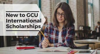 New to GCU international awards, UK