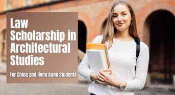 Law Scholarship in Architectural Studies for China and Hong Kong Students at Carleton University, Canada