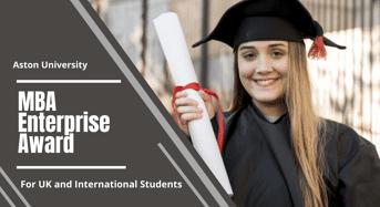 MBA Enterprise Awards for UK and International Students at Aston University