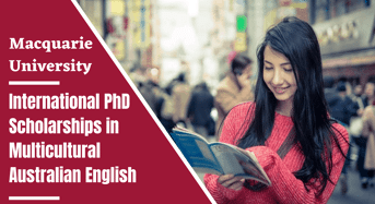 Macquarie University International PhD Positionsin Multicultural Australian English