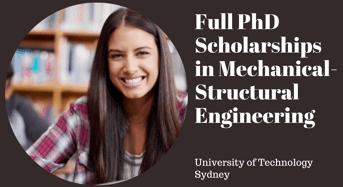 UTS Full PhD Positionsin Mechanical-StructuralEngineering, Australia