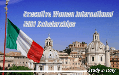 Executive Women International MBA Scholarships at Rome Business School, Italy