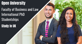 Faculty of Business and Law International PhD Studentships in UK
