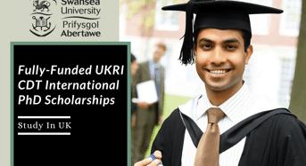 Fully-FundedUKRI CDT International PhD Positionsin UK
