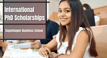 International PhD Positionsat Copenhagen Business School, Denmark