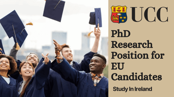 University College Cork PhD Research Position for EU Candidates in Ireland