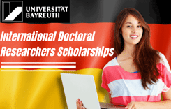 International Doctoral Researchers Scholarships at University of Bayreuth, Germany