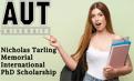 Nicholas Tarling Memorial International PhD Scholarship in New Zealand