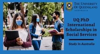 UQ PhD international awards in Social Services, Australia