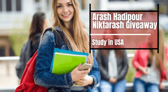 Arash Hadipour Niktarash Giveaway in USA