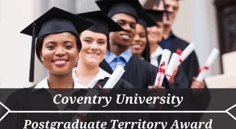 Coventry University Postgraduate Territory Award in UK