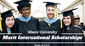 Miami University Merit international awards in USA