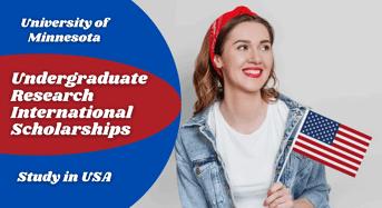 Undergraduate Research international awards at University of Minnesota, USA