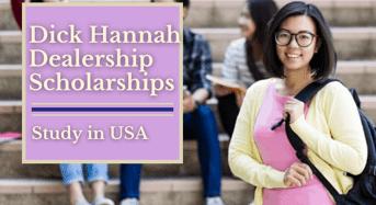 Dick Hannah Dealership Scholarships in USA