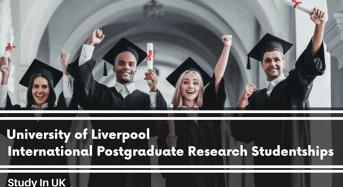 International Postgraduate Research Studentships in Effect of Low Protein Diet, UK