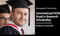 Macquarie University International HDR Road to Research Scholarship in Australia