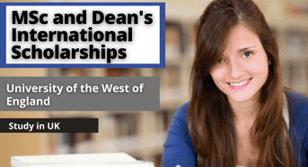 Faculty of Health and Applied Science MSc and Dean's international awards, UK