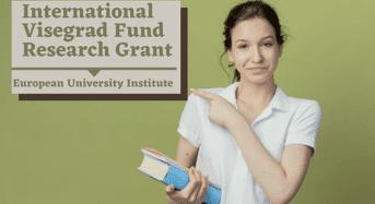 International Visegrad Fund Research Grant Programme, 2022