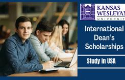 Kansas Wesleyan University International Dean's Scholarships in USA