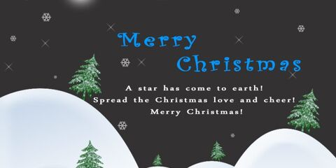 Beautiful Merry Christmas Greeting JPG and PSD 2