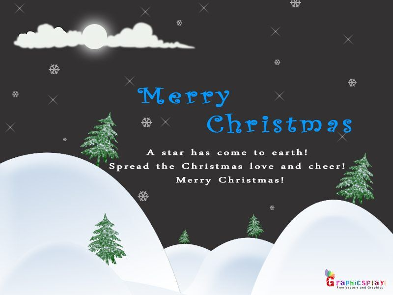 Beautiful Merry Christmas Greeting JPG and PSD 1