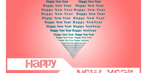 New Year Greeting in Love JPG and Vector 2