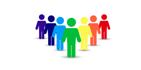 Colorful Standing Men PNG and Vector 3